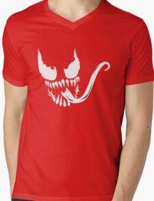 Venom face Mens V-Neck T-Shirt