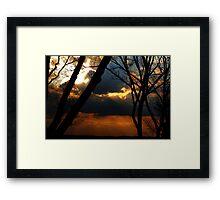 Ominous Horizon Framed Print