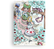 Alice & The Pig Baby  Canvas Print