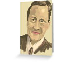 David Cameron Greeting Card