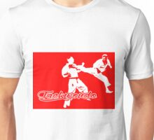 Taekwondo Jumping Back Kick Red  Unisex T-Shirt