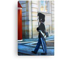 Guard on Patrol Metal Print