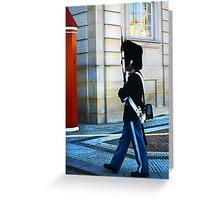 Guard on Patrol Greeting Card