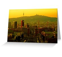 Sunset on Plaza Espanya Greeting Card