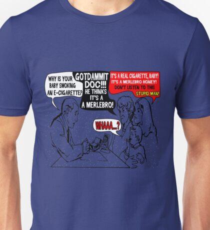 Ridiculous Humor- Smoking Babies Comic Unisex T-Shirt