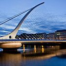 Samuel Beckett Bridge Dublin by Janine Branigan