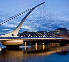Samuel Beckett Bridge Dublin by Janine Branigan