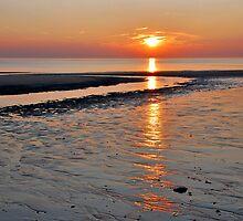 Reflected sunset by Adri  Padmos