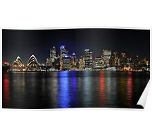 Sydney Skyline on a Winters Night Poster