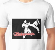 Taekwondo Jumping Back Kick Black Unisex T-Shirt