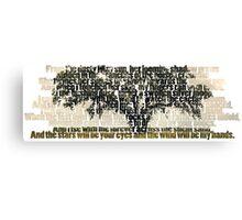 True Detective - Tree of Death Canvas Print