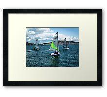 I Saw Three Ships Go Sailing By  Framed Print