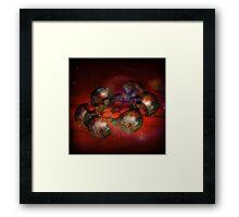 Space Station Incendia Framed Print