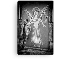 An angel came to earth Canvas Print