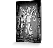 An angel came to earth Greeting Card
