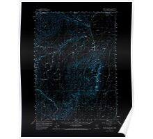 USGS Topo Map Nevada Jordan Meadow 321024 1959 62500 Inverted Poster