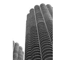 Marina Towers in abstract Photographic Print