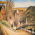 House of the Hanged Man Auvers Sur Oise from P Cezanne by Jsimone