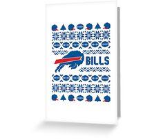 Buffalo Bills Holiday Design Greeting Card
