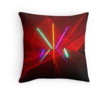 Laser Show Throw Pillow