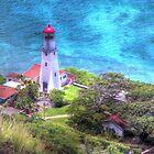 Lighthouse in Oahu Hawaii  by Guy Jenkins