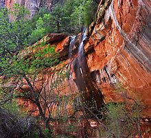 Waterfall at Lower Emerald Pool by Julia Washburn