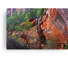 Waterfall at Lower Emerald Pool Canvas Print