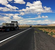 On the Road Again - Interstate 15 - Nevada by Julia Washburn