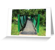 Steel Pedestrian Bridge Greeting Card
