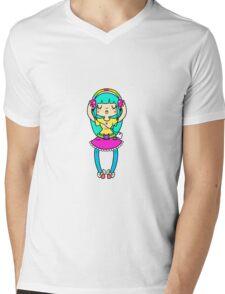 Music Girl Mens V-Neck T-Shirt
