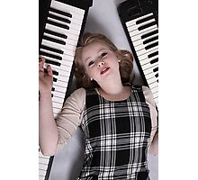 Keyboard player Photographic Print