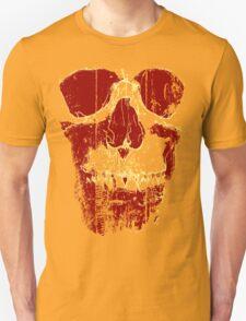 Skull Tee: Red & Yellow T-Shirt