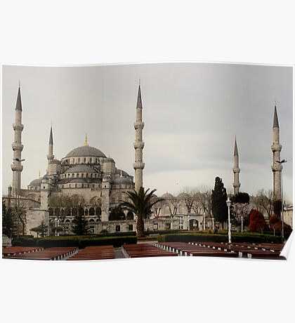 The blue mosque in Istanbul Poster