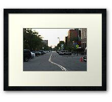 Pigeon Traffic Framed Print