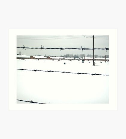 Birkenau In Winter Deep In Snow Art Print