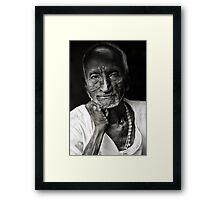 Delhi shopkeeper Framed Print