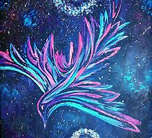 Electric Phoenix Original by Cryptic Charm