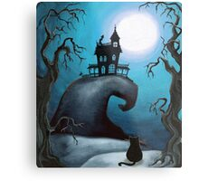 Haunted Mansion on Old Witch Hill  Metal Print
