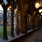 Canterbury Cathedral Cloister at Dusk by Lisa Knechtel