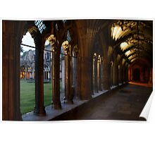 Canterbury Cathedral Cloister at Dusk Poster