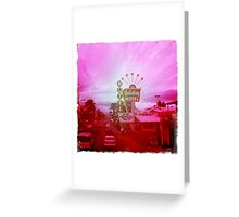 Retro Las Vegas Motel, Nevada Greeting Card