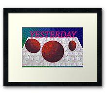 VAPORWAVE-Yesterday Framed Print