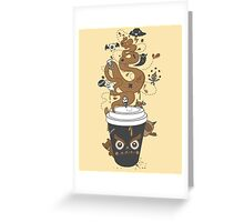 Awaken Coffee Greeting Card