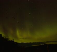 Big Dipper with Northern Lights by by M LaCroix