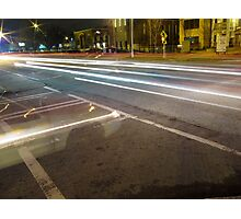 Ghost Taxi and Other Light Trails Photographic Print
