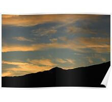 Clouds in a Setting Sun Poster