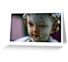 eyes of the saint Greeting Card
