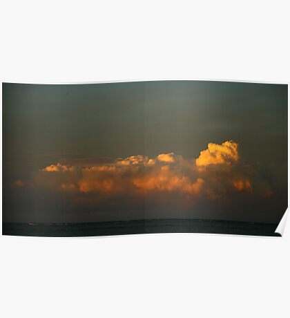 rolling storm clouds. coastal victoria Poster