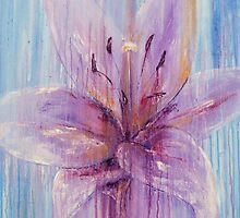 Lily Flower in Purple by Karen King