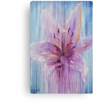 Lily Flower in Purple Canvas Print